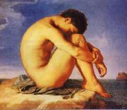 Hippolyte Flandrin Young Man Beside the Sea   1 China oil painting reproduction