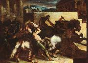 Theodore   Gericault The Race of the Barbary Horses China oil painting reproduction