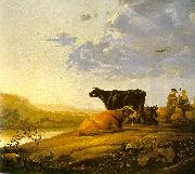 Aelbert Cuyp Young Herdsman with Cows by a River China oil painting reproduction