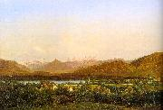 Alexandre Calame View of Geneva from Petit-Saconnex China oil painting reproduction
