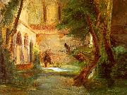 Charles Blechen Monastery in the Wood China oil painting reproduction