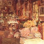 Childe Hassam The Room of Flowers China oil painting reproduction