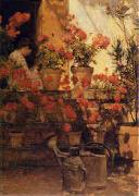 Childe Hassam Geraniums China oil painting reproduction
