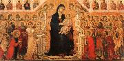 Duccio di Buoninsegna Madonna and Child Enthroned with Angels and Saints China oil painting reproduction