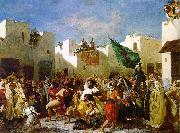 Eugene Delacroix The Fanatics of Tangier China oil painting reproduction