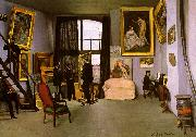 Frederic Bazille The Artist's Studio on the Rue de la Condamine China oil painting reproduction