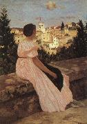 Frederic Bazille The Pink Dress China oil painting reproduction