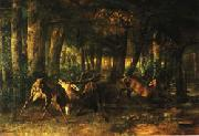 Gustave Courbet Spring Rutting;Battle of Stags China oil painting reproduction