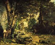 Gustave Courbet A Thicket of Deer at the Stream of Plaisir-Fontaine China oil painting reproduction