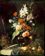 HEEM, Jan Davidsz. de Flower Still-life with Crucifix and Skull af China oil painting reproduction