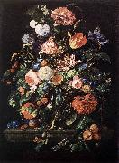 HEEM, Jan Davidsz. de Flowers in Glass and Fruits g China oil painting reproduction