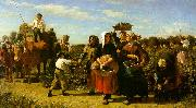 Jules Breton The Vintage at the Chateau Lagrange China oil painting reproduction