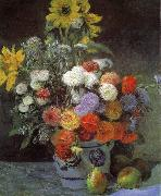 Pierre Renoir Mixed Flowers in an Earthenware Pot China oil painting reproduction