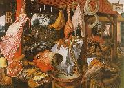 Pieter Aertsen  Butcher's Stall with the Flight into Egypt China oil painting reproduction