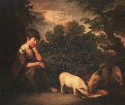 Thomas Gainsborough Girl with Pigs China oil painting reproduction