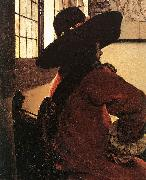 VERMEER VAN DELFT, Jan Officer with a Laughing Girl (detail)  jhg China oil painting reproduction