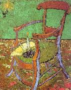 Vincent Van Gogh Gauguin's Chair with Books and Candle China oil painting reproduction