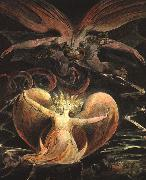 William Blake The Great Red Dragon and the Woman Clothed with the Sun China oil painting reproduction