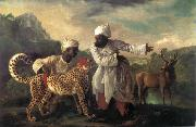 Edvard Munch Cheetah and Stag with two indians China oil painting reproduction