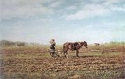 Mikhail Klodt In the Ploughed Field China oil painting reproduction