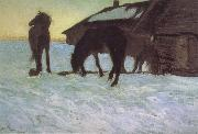 Valentin Serov Colts at a Watering-Place. China oil painting reproduction