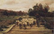 A. Bryan Wall Shepherd and Sheep China oil painting reproduction