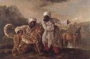 George Stubbs Cheetah and Stag with Two Indians China oil painting reproduction