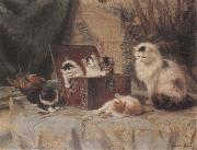 Henriette Ronner At Play China oil painting reproduction