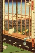 Hiroshige, Ando Cat at Window China oil painting reproduction