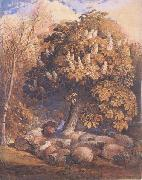 Samuel Palmer Pastoral with a Horse Chestnut Tree China oil painting reproduction