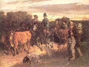 Courbet, Gustave The Peasants of Flagey Returning from the Fair China oil painting reproduction