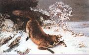 Courbet, Gustave The Fox in the Snow China oil painting reproduction
