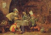 David Teniers Smokers and Drinkers China oil painting reproduction