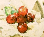 Demuth, Charles Still Life with Apples and a Green Glass China oil painting reproduction