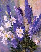 Hills, Laura Coombs Larkspur and Lilies China oil painting reproduction