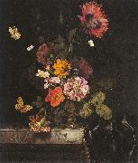 Lachtropius, Nicolaes Flowers in a Gold Vase China oil painting reproduction