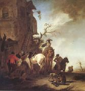 WOUWERMAN, Philips Hunters and Horsemen by the Roadside (mk05) China oil painting reproduction