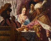 Jan lievens The Feast of Esther (mk33) China oil painting reproduction