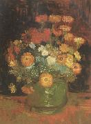 Vincent Van Gogh Vase with Zinnias (nn04) China oil painting reproduction