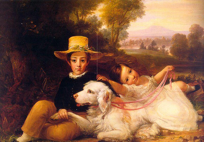 George Henry Harlow Portrait of Two Young Children
