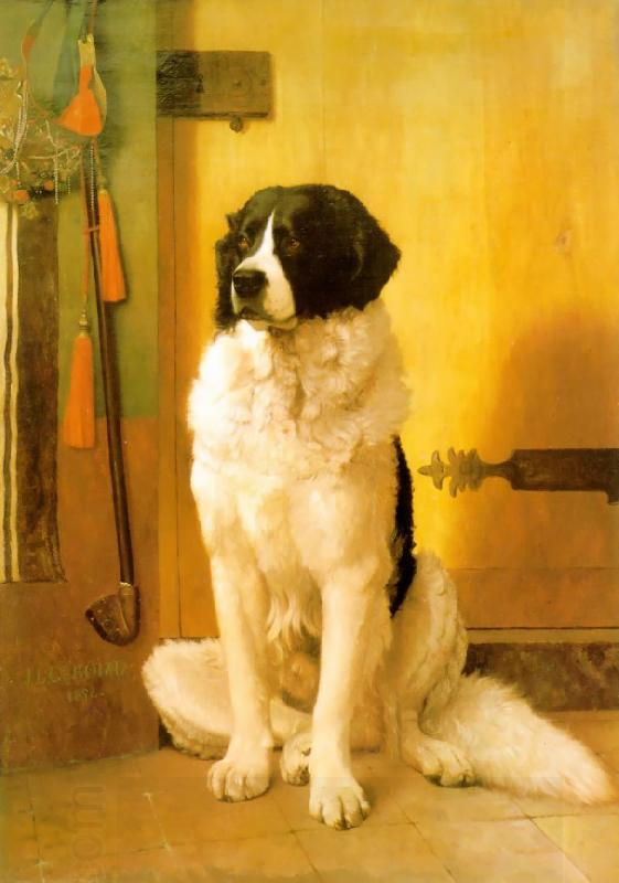 Jean Leon Gerome Study of a Dog