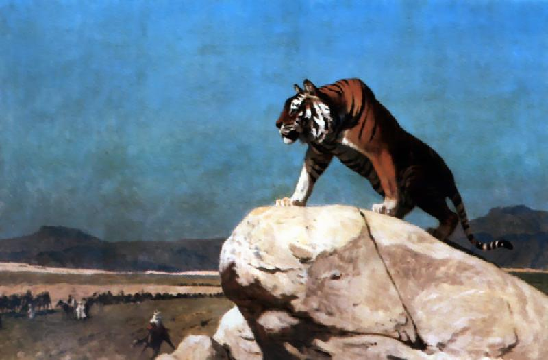 Jean Leon Gerome Tiger on the Watch