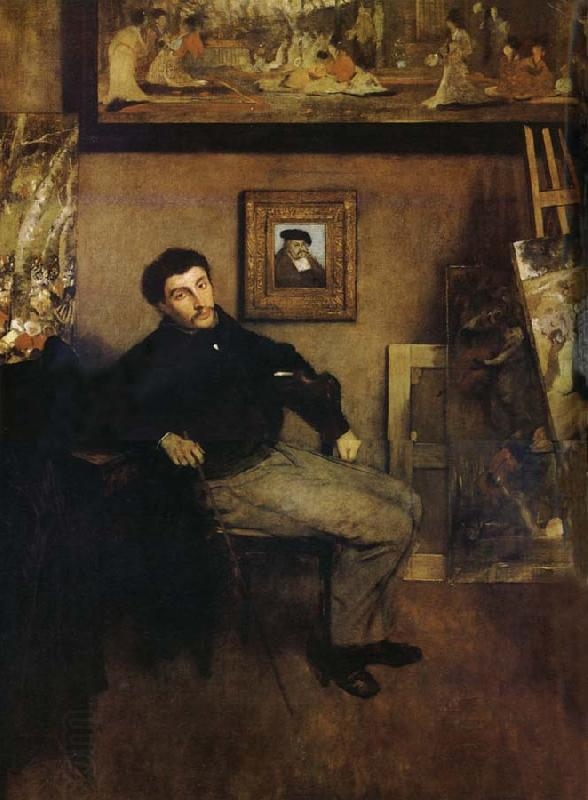 How To Check Oil >> The Man in the studio Edgar Degas China Oil Paintings ...