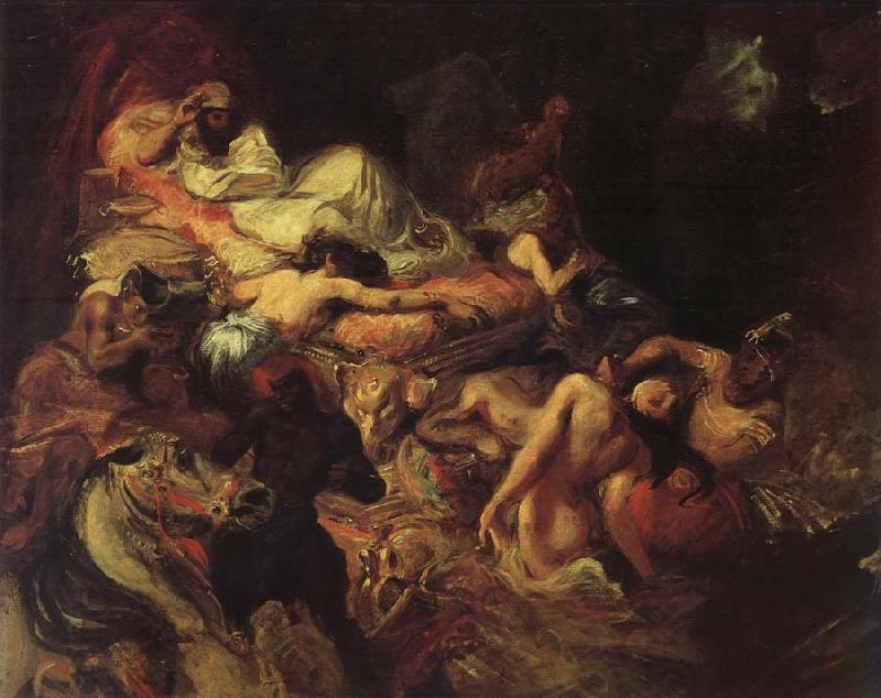 Eugene Delacroix Stgudie to the death of the Sardanapal oil painting ...: chinaoilpainting.com/china oil painting/picture-45936-stgudie to...
